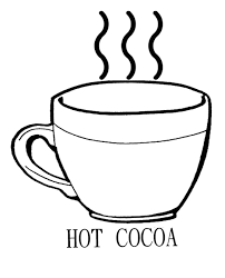 Drinking Hot Chocolate Cocoa Coloring Page Kids Coloring Pages Cup Coloring Page