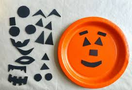 halloween paper plate jack o lantern kids craft holidays