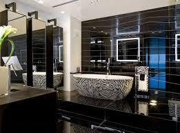 luxury bathroom in black and grey fresh design pedia