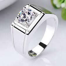 men s ring 1 carat solid 585 gold classic men s ring subtle genuine