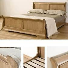 Oak Sleigh Bed Oak Sleigh Bed Kingsize Ebay