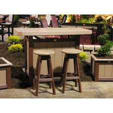 amish made patio pub bar sets pinecraft com outdoor pub table