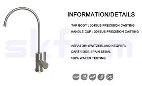 Reverse Osmosis Faucet Filter Ro Air Gap Drinking Water Faucets Filter Mixer Stainless Steel Tap