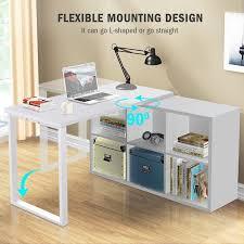 L Shaped Computer Desk With Storage Latitude Run Britni Modern Corner L Shape Computer Desk With 6