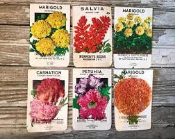 vintage seed packets vintage seed packets etsy