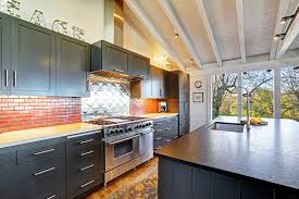 Kitchen With Brick Backsplash 35 Luxury Kitchens With Dark Cabinets Design Ideas Designing Idea