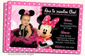 1st Birthday Invitation Cards Designs Birthday Invites Outstanding Minnie Mouse Birthday Invitations