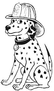 fireman dog coloring