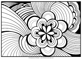 free abstract coloring page to print detailed psychedelic inside