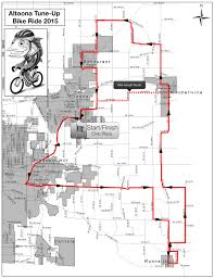 Route 40 Map by 1 Month Remaining U2013 Altoona Tune Up Bike Ride