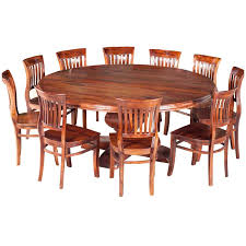 nevada rustic solid wood large round dining table for 10 people