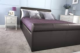 Ottoman Storage Bed Frame by Carolina Faux Leather Side Lift Ottoman Bedstead Gas Lift Storage