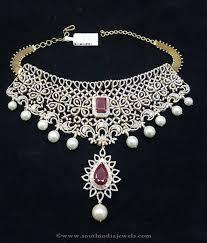 diamond necklace photos images Gold diamond necklace design from sri balaji jewellers south jpg