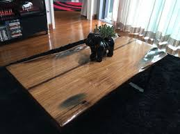 diy hardwood coffee table made out of recycled wood part 4
