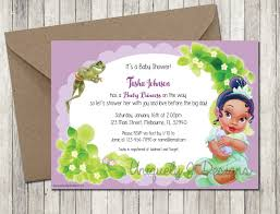 princess tiana baby shower invitation printable baby shower