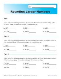 collections of free rounding worksheets 4th grade free math