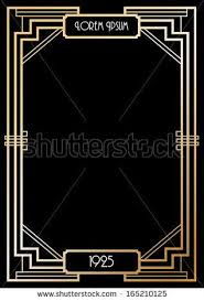 printable art deco borders art deco border template vector illustration art deco lines