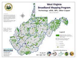 National Broadband Map West Virginia Broadband Mapping Program Maps