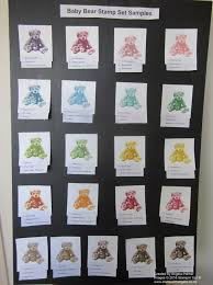 colourful baby bears photo display