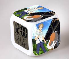 bedroom clocks aliexpress com buy japanese anime natsume yuujinchou led 7 color