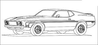 car mustang fast coloring pages place color