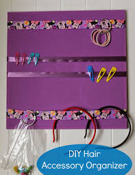 hair accessory organizer easy kids diy hair accessory organizer views from the ville