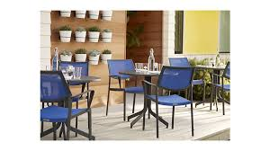 largo blue mesh dining chair crate and barrel