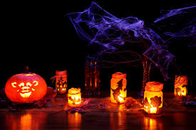 free images glowing fall spooky dark orange lantern
