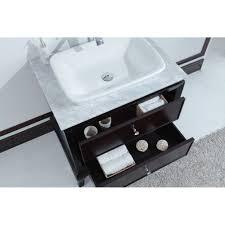 32 Vanity Top Lamont 32 Inch Single Sink Bathroom Vanity With Carrera Marble Top