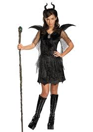 Halloween Costumes Tweens Tween Black Maleficent Gown Costume