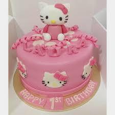 hello birthday cakes sherbakes pink hello cake