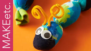 how to make a sock caterpillar simple craft idea for kids youtube