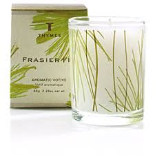 thymes candles thymes frasier fir votive candles
