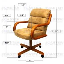 Swivel Tilt Dining Chairs by Caster Chair Company Swivel Tilt Caster Arm Chair In Beige