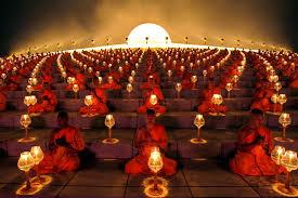 buddhist monk lantern lighting ceremony in bangkok ubersuper