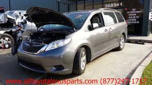 parting out 2012 toyota sienna stock 3005gr tls auto recycling