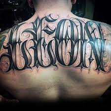 last name back tattoos designs pictures to pin on pinterest