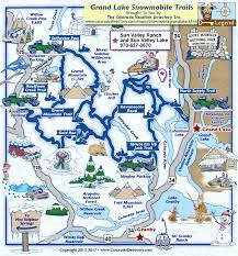 grand map grand lake snowmobile trails map colorado vacation directory
