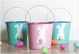 painted easter buckets creative diy easter baskets mine for the