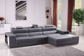 Modern Gray Leather Sofa Modern Gray Leather Sectional Sofa Leather Sofa