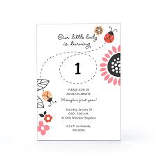 photo ladybug baby shower invitation image
