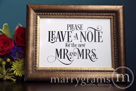Mr And Mrs Sign For Wedding Leave A Note For The New Mr And Mrs Sign Enchanting Style