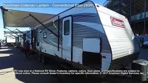 coleman travel trailers floor plans dutchmen coleman lantern conventional east 280rl youtube