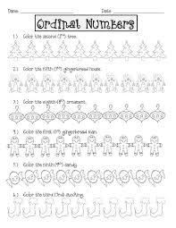no ordinal christmas ordinal numbers number worksheets and