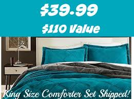 Teal King Size Comforter Sets Sears 39 99 Cannon Silky Velvet Comforter Set Full Queen U0026 King