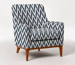 Ikat Armchair Chevron Upholstered Chair Upholstered Blue And White Ikat Chevron