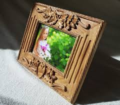 photo frame wood carving oak free shipping natural color halloween