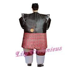 Scottish Halloween Costume Chub Scottish Bagpipe Inflatable Jumpsuit Blow Walking