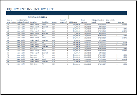 Windows Excel Templates Ms Excel Equipment Inventory List Template Excel Templates
