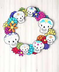 dia de los muertos decorations dia de los muertos wreath